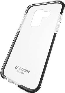 Cellularline Tetra Force Shock-Twist Funda para teléfono móvil Negro, Transparente - Fundas para teléfonos móviles (Funda, Samsung, Galaxy A6+ (2018), Negro, Transparente)