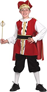 Bristol Novelty Medieval King Costume Small Child Age 3 - 5 Years