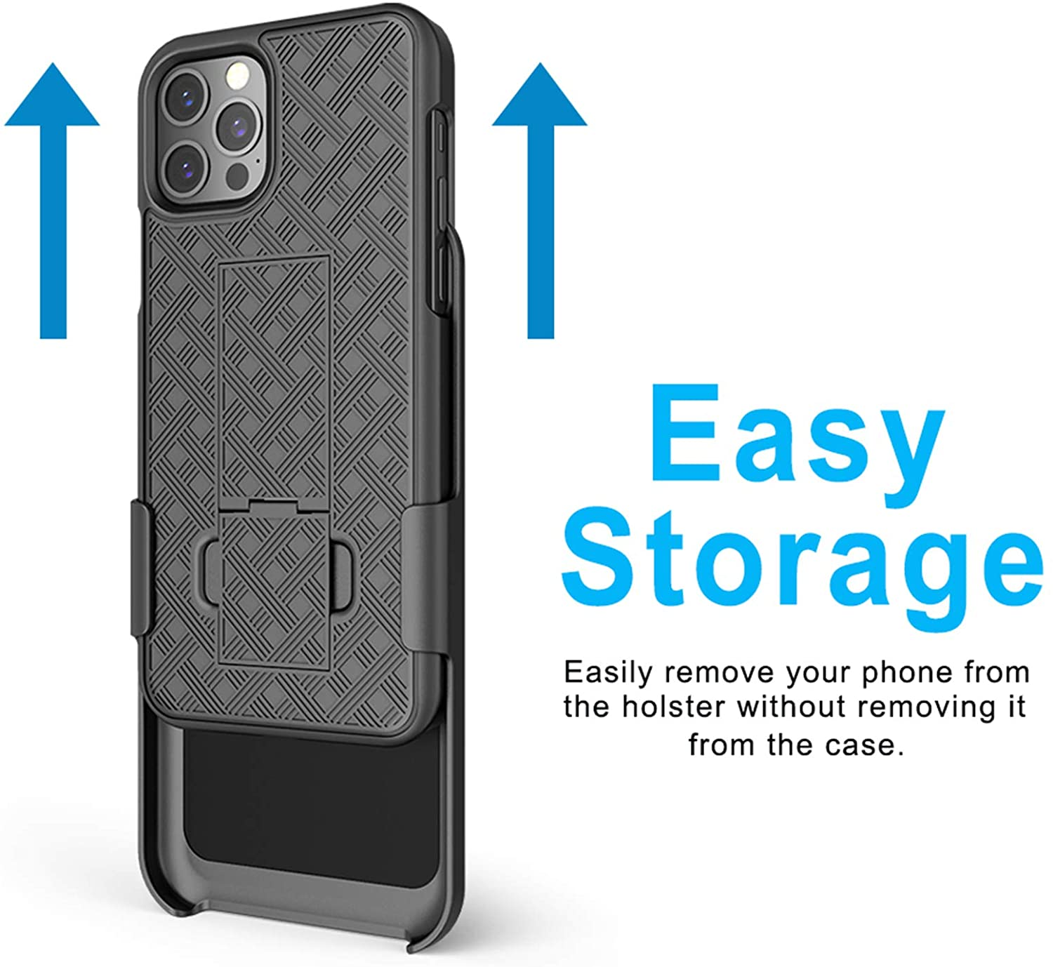 Slim Shell /& Swivel Belt Clip Holster with Built-in Kickstand for Apple iPhone Aduro Combo Case /& Holster for iPhone 12 Mini