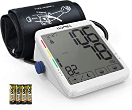 """Blood Pressure Monitor, HOMIEE 5.5"""" Touch Screen Blood Pressure Machine with AFIB Detection, 9""""-17"""" Arm Cuff, 8 Weeks Day & Night Record, 2 Users 240 Memories, USB Charging and Batteries Powered"""