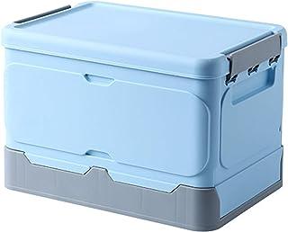 収納ボックス ふた付き 折りたたみ 収納ケース ブルー Mサイズ 約幅34x奥行23x高さ23cm