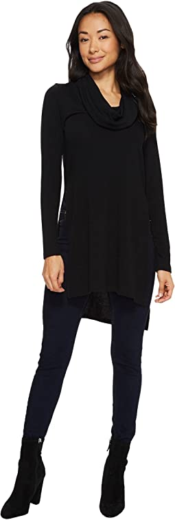 Karen Kane - Cowl Neck Side Split Sweater