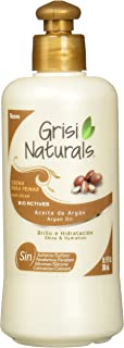 GRISI Naturals Argan Oil Hair Comb Cream helps Shine and Hydration for all type of hair 10.1 Oz Bio Actives Crema Para Peinar Grisi