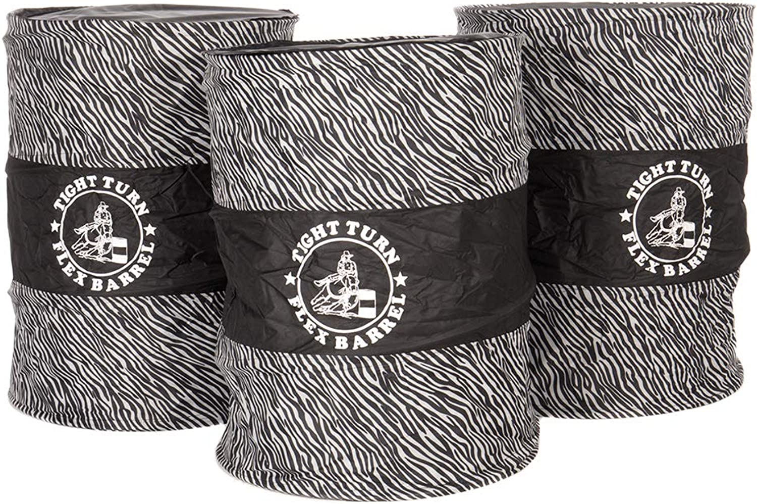 New Barrel Racing Tight Turn Pop Up Flex Flexible 3 Piece Set Zebra Rwb Usa Flag