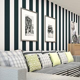 laamei Papel Pintado 3D Rayas Diseño Europeo No-Tejido Damasco Papeles Muro Decoración de Pared para TV Telón de Fondo/Dormitorio/Hotel/Restaurante(53x500cm)