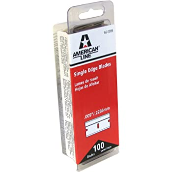 American Line 66-0089 Single Edge Razor Blade Box (Pack of 100)