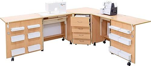 Comfort 6 | Mueble para máquina de coser | (Lakeland Acacia Light ...