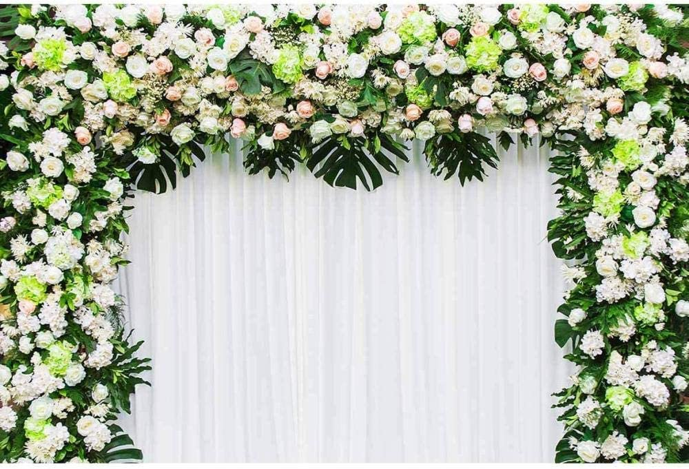 New 7x5 Backgrounds Backdrop for Photography White Floral Hot Air Balloons Photo Backdrops for Easter Day No Wrinkle Photo Booth Party Props