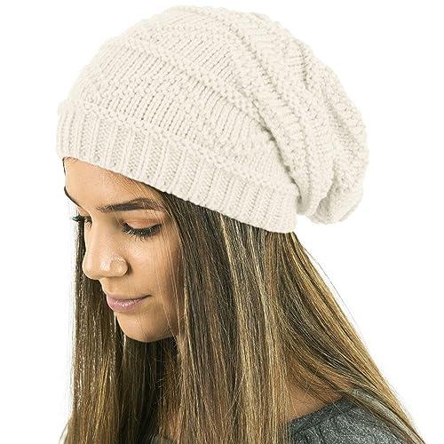 629c4e1d07c TOSKATOK Ladies Knit Slouch Winter Hat Beanie