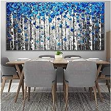 لوحة زيتية يدوية الصنع على قماش حديث 100% من SANSNMI, 40x80cm unframed