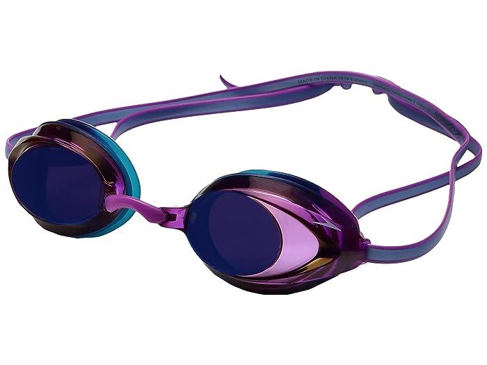 Speedo Wms Vanquisher 2.0 Mirrored Goggle (Purple Dream) Water Goggles
