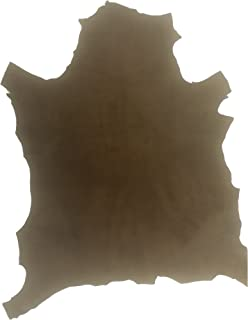 REED Leather HIDES - Whole Suede Skin 7 to 10 SF - Various Colors (Suede - Brown)