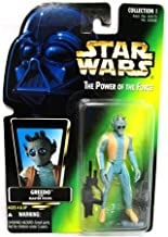 Star Wars, The Power of the Force Green Card, Greedo Action Figure, 3.75 Inches