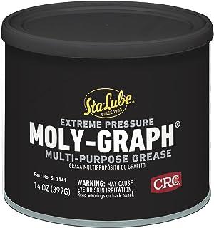 Sta-Lube SL3141 Moly-Graph Extreme Pressure Multi-Purpose Lithium Grease, 14 Wt Oz