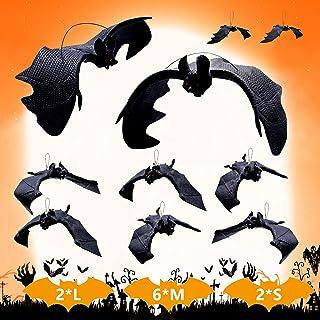 Halloween decoratie 10 stuks Halloween vleermuis decoraties helHalloween party accessoires Halloween hangende vleermuis 3D...