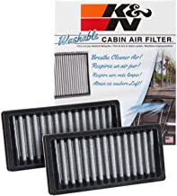 K&N VF1010 Washable & Reusable Cabin Air Filter Cleans and Freshens Incoming Air for your 2011-2016 JEEP Wrangler