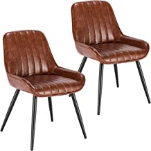 Amazon Co Uk Dining Chairs Faux Leather Dining Chairs Dining Room Furniture Home Kitchen