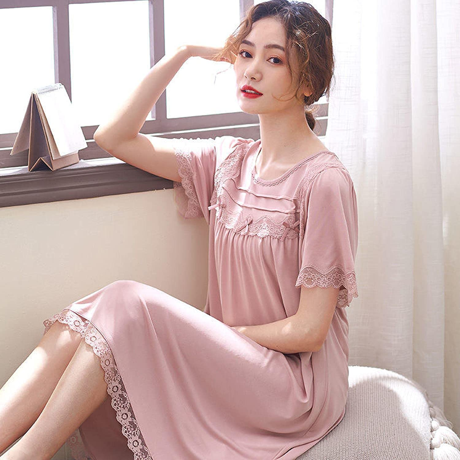 STJDM Nightgown Women Modal Night Summer Sleepwear We OFFer at Max 65% OFF cheap prices Dress Si Plus