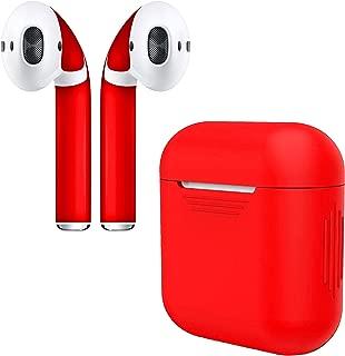 APSkins 硅胶保护套和时尚外壳兼容苹果 AirPod 配件REDCASE_5RE01 Red Case & Skin