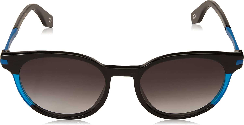 Marc Jacobs MARC294/S Oval Sunglasses, BLK Blue, 52 mm
