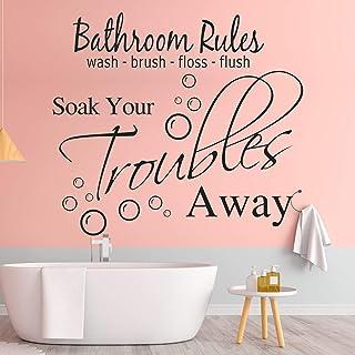 Bathroom Decor Wash Away Your Troubles Bathroom Wall Decal