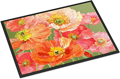 "Caroline's Treasures SASE664CJMAT Poppies by Anne Searle Indoor or Outdoor Mat, 24"" x 36"", Multicolor"