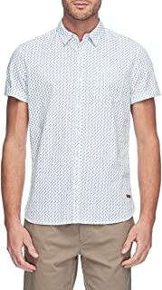 Mossimo Men's Buckly Short Sleeve Shirt, White
