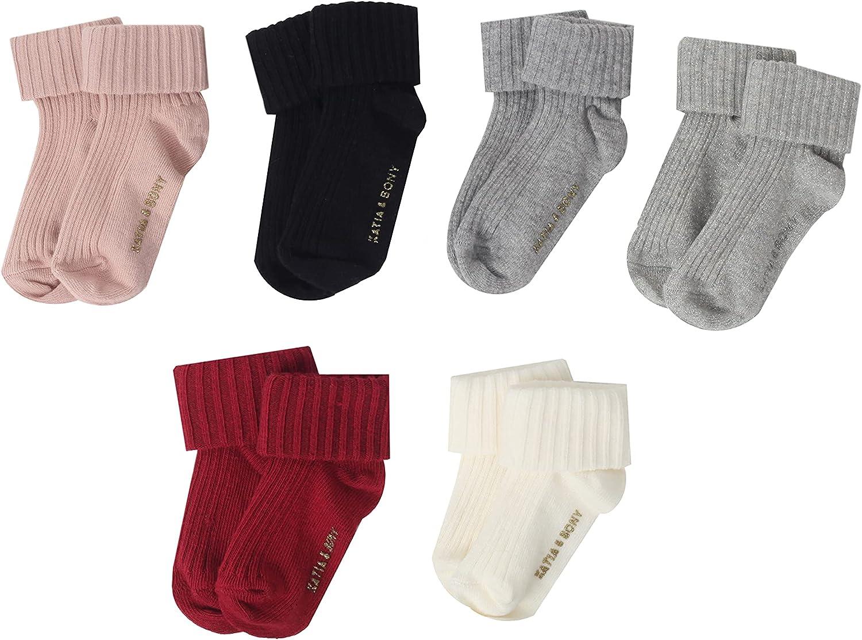 NewBorn Baby Organic Cotton Socks 6 Pairs Non Slip Boys Girls 0-6 6-12 12-24 Months