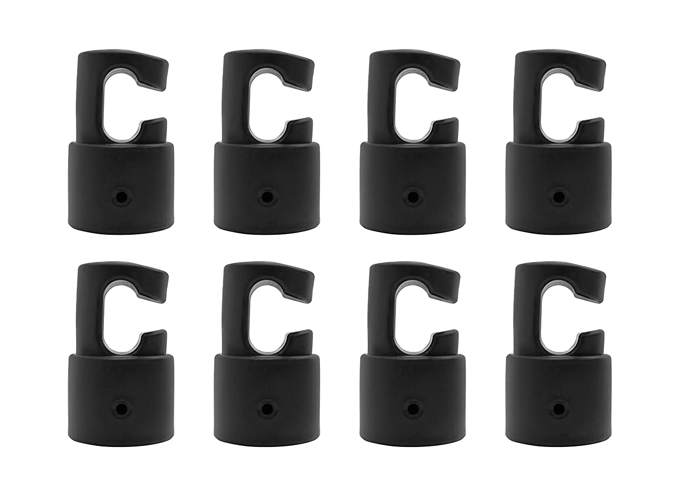 Enclosure G shaped Pole Caps to use for Fiber Glass or Metal Rings on Top of Trampoline -Fits for 1.5