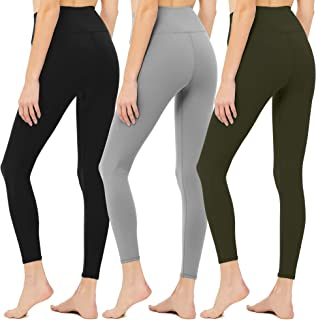 Diravo Womens High Waisted Leggings Soft Athletic Tummy Control Pants for Running Cycling Yoga Workout Pants