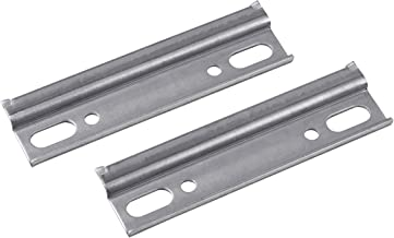 Metafranc 350586 Kastophangrails, 2 stuks, lengte 110 mm, robuust staal, met antislipbeveiliging, voor het ophangen van ha...
