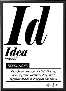 Quadro Moderno Ufficio e Casa - Idea - Cornice varie dimensioni - Motivazionale Skills Made in Italy Mod.035