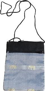 Full Funk Mid Size Thai Silk Shoulder Pouch Bag