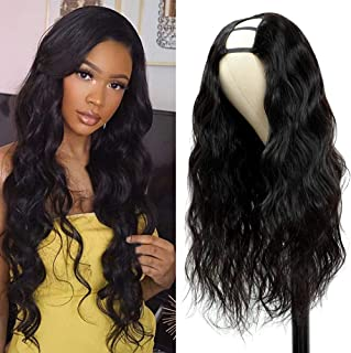 PANEWAY U Part Wig Body Wave Human Hair Wigs 150% Density 10A Brazilian Remy Hair Clip in Half Wig For Black Women U Part ...