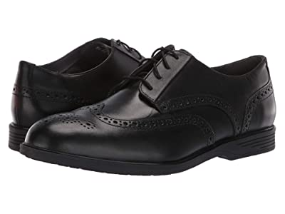 Hush Puppies Shepsky Wing Tip Oxford (Black Leather) Men