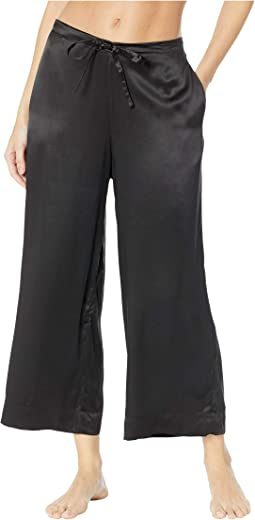 Silk Wide Leg Crop Pants SLK103