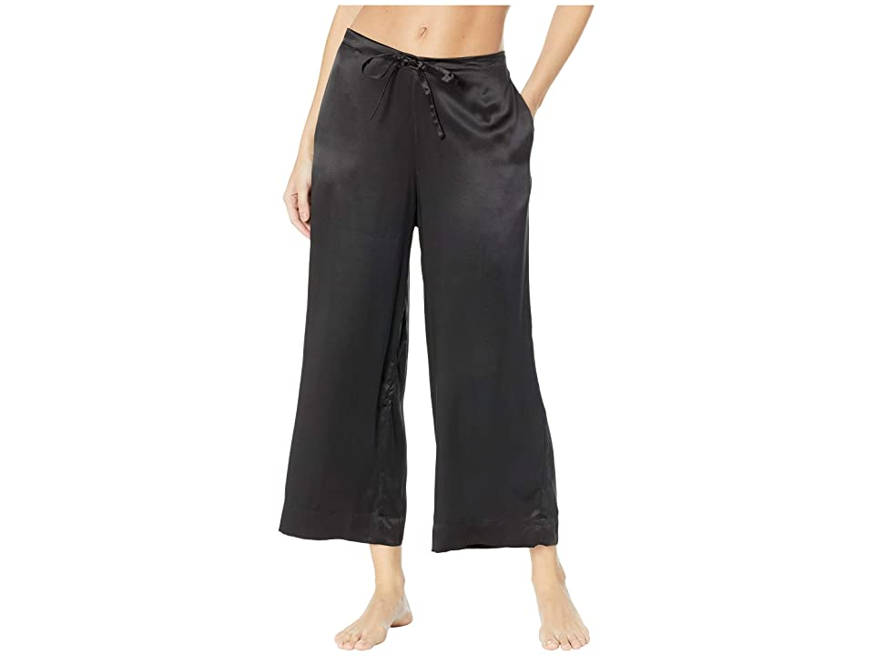 Commando Silk Wide Leg Crop Pants SLK103 (Black) Women