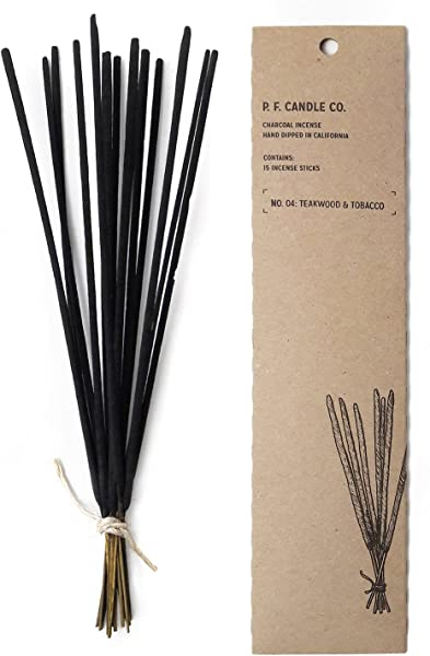 Pf Candle Co Incense Teakwood And Tobacco 15 Count