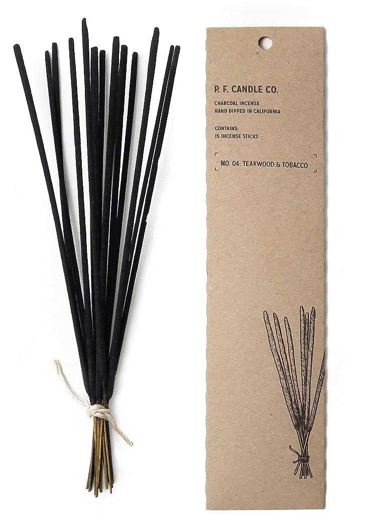 傷つけるましい禁輸p.f. Candle Co。?–?No。04?: Teakwood &タバコIncense 2-Pack