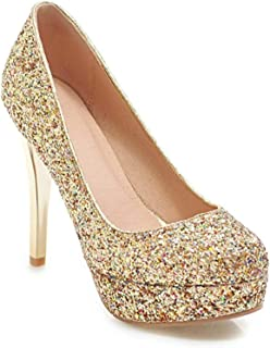Surprise S Sequined Cloth High Heels Platform Shoes Women Pumps Slip On Party Wedding Shoes