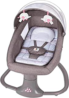 Pink Baby Swing 3in1 Leaf Deluxe Bassinet Grey Baby Cradle Rocking Upto 3 Years