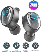 PeohZarr Wireless Earbuds Bluetooth Earbuds V5.0 with Charging Case, 3D Stereo Pro Sound, Noise Canceling Earphones with Built-in Mic and MONO Mode, IPX7 Waterproof, Calls Switch Quick Access to Siri