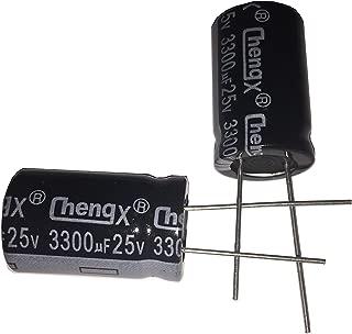 Radial Lead NTE Electronics NPR1000M25 Series NPR Aluminum Non Polarized Electrolytic Capacitor 25V Voltage Inc. 1000/µF Capacitance 20/% Capacitance Tolerance