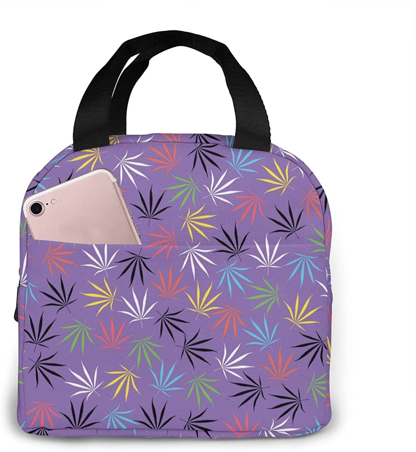 Insulated Neoprene Lunch Bag for color San Jose Mall marijuana leaves Cash special price Women Re