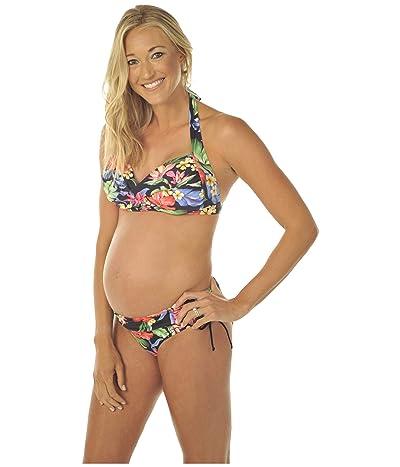 Prego Maternity Wear Hawaiian Bombshell Maternity Bikini (Black) Women