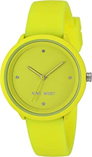 Nine West Women's Neon Yellow Silicone Strap Watch, NW/2425YLYL