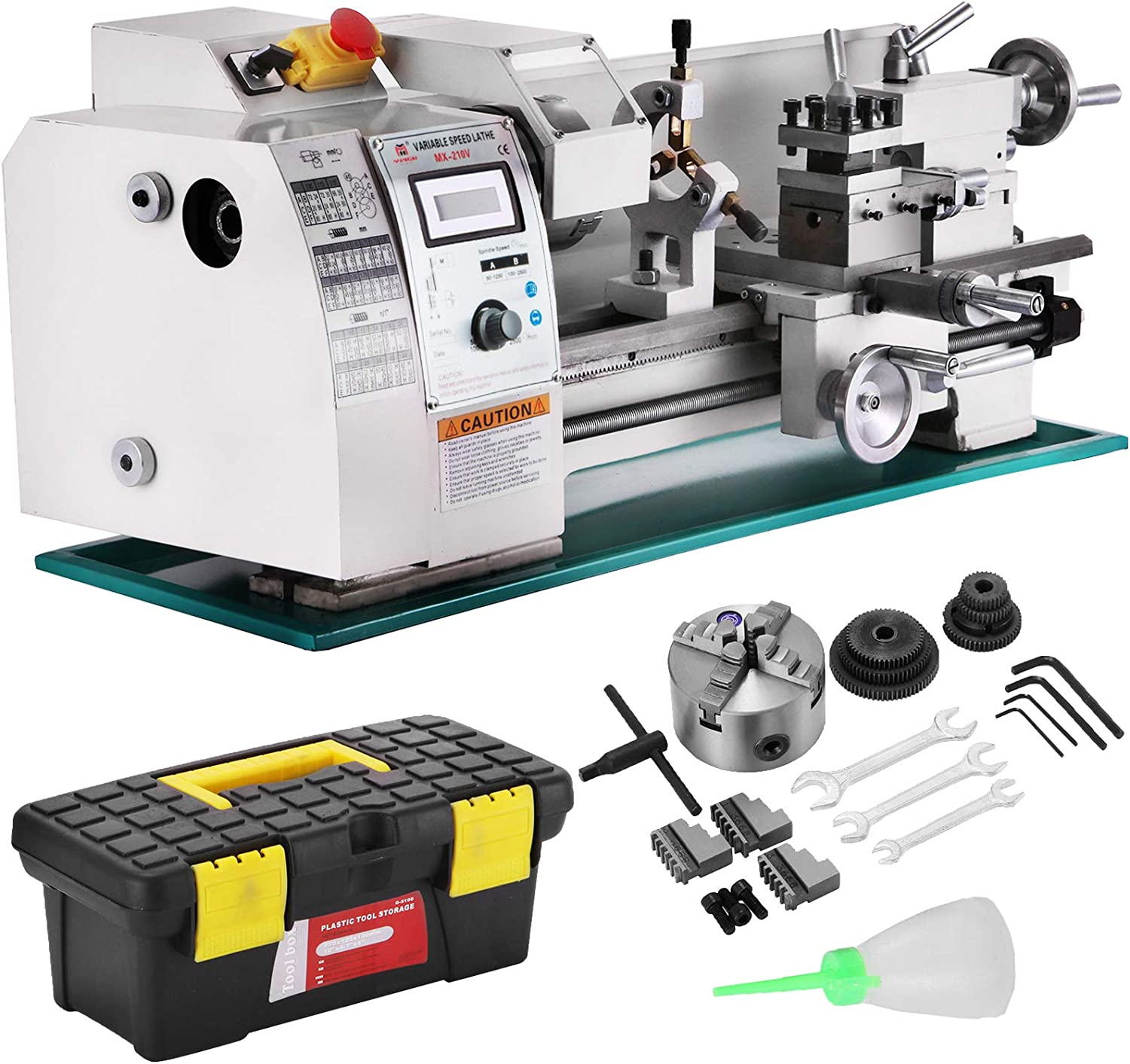 Mophorn 8x16 Luxury Version Metal Bench Top Sale special price Lathe Max 50% OFF 750W Precision