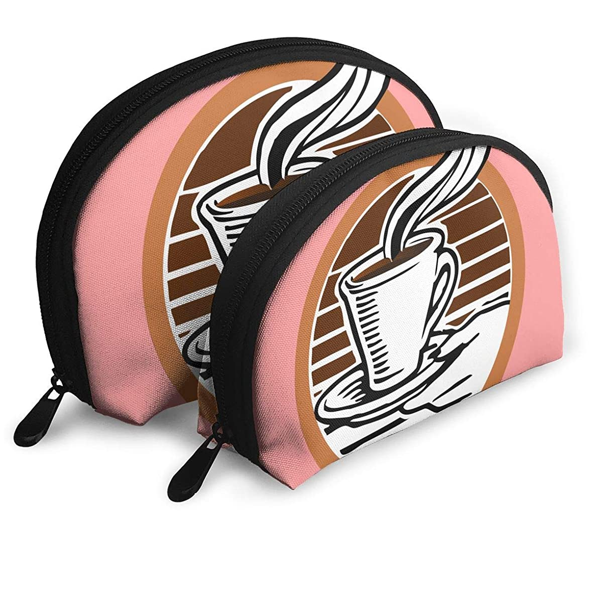 うるさいはぁにはまってDickey Bowen コーヒー シェルポーチ クラッチポーチ 収納ケース 化粧ポーチ トラベルポーチ メイクポーチ コスメポーチ コインバッグ バッグ ポータブルバッグ 財布 二つ ストレージ 小物入れ 収納 多機能 印刷 可愛い 女性