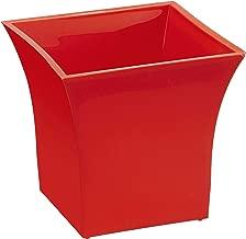 Klassic Plastic Sharp Edges Planter Set (Red, Pack of 6)