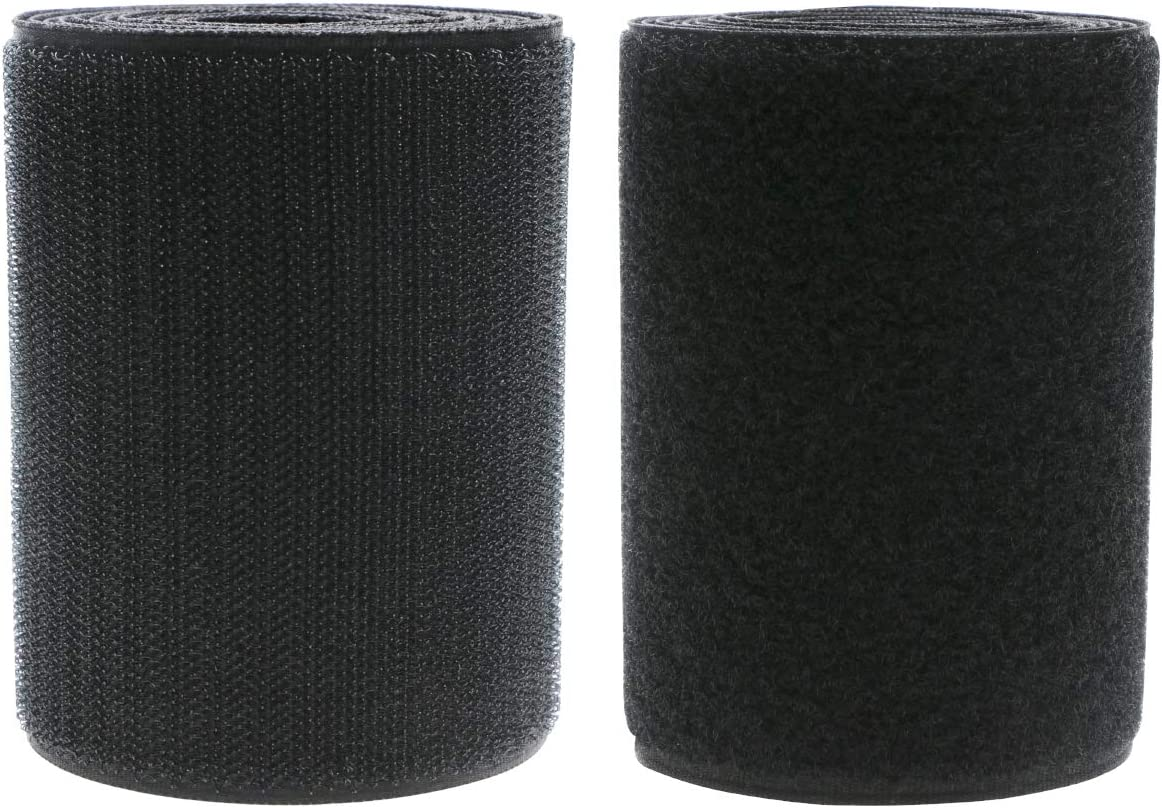 Max 43% OFF Miami Mall Mini Skater 4 Inch Width Black Sew Strips Loop Hook Non-Adhes on